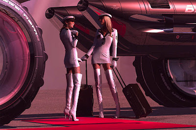 Cosmic Motors Concept Art by Daniel Simon