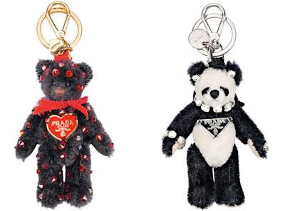 Prada Teddy Bear Key Chains