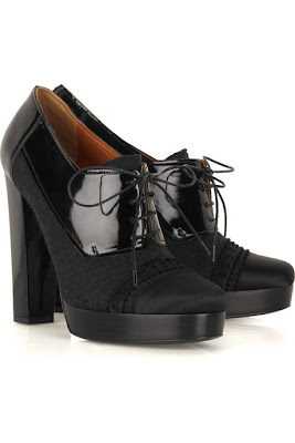 Lanvin Lace-up Platform Pumps