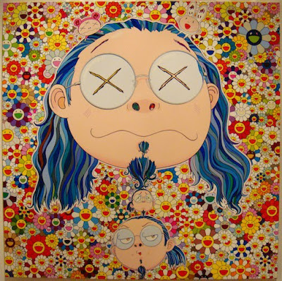 Takashi Murakami Paints Self-Portraits, Emmanuel Perrotin Gallery in Paris
