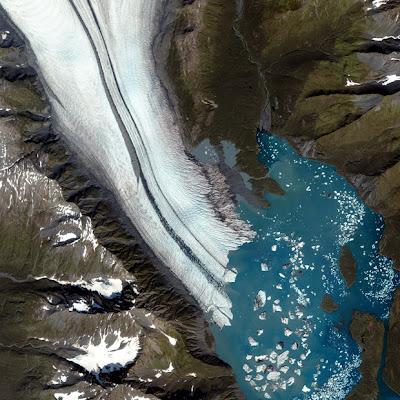 Glacier Captured by Satellite