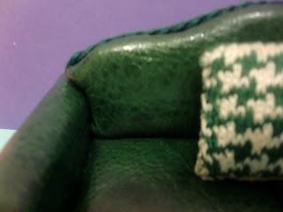miniaturas casa de muñecas sofa, oso, manta de viaje, cojin
