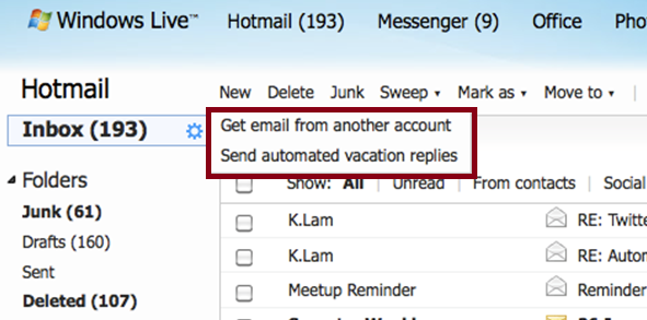 how to get your emails to pop up on hotmail