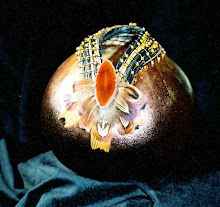 Carved Gourd with Jasper