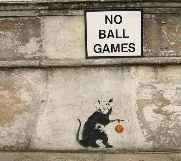 Banksy Graffiti Drawing | Beautiful Street art Seen On www.coolpicturegallery.us