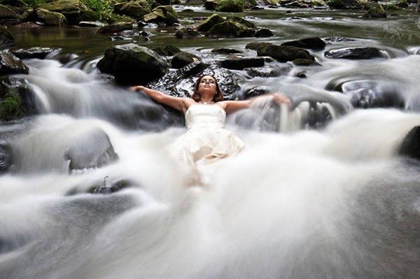 Unusual Wedding dress photography