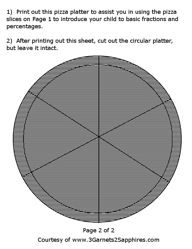 Pizza Fractions Printable http://www.3garnets2sapphires.com/2010/04 ...