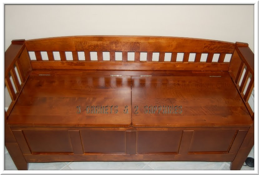 3 Garnets 2 Sapphires Review Linon Crescent Short Back Storage Bench