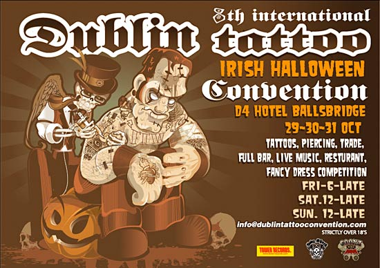 The 2010 Dublin International Tattoo Convention will take place Halloween