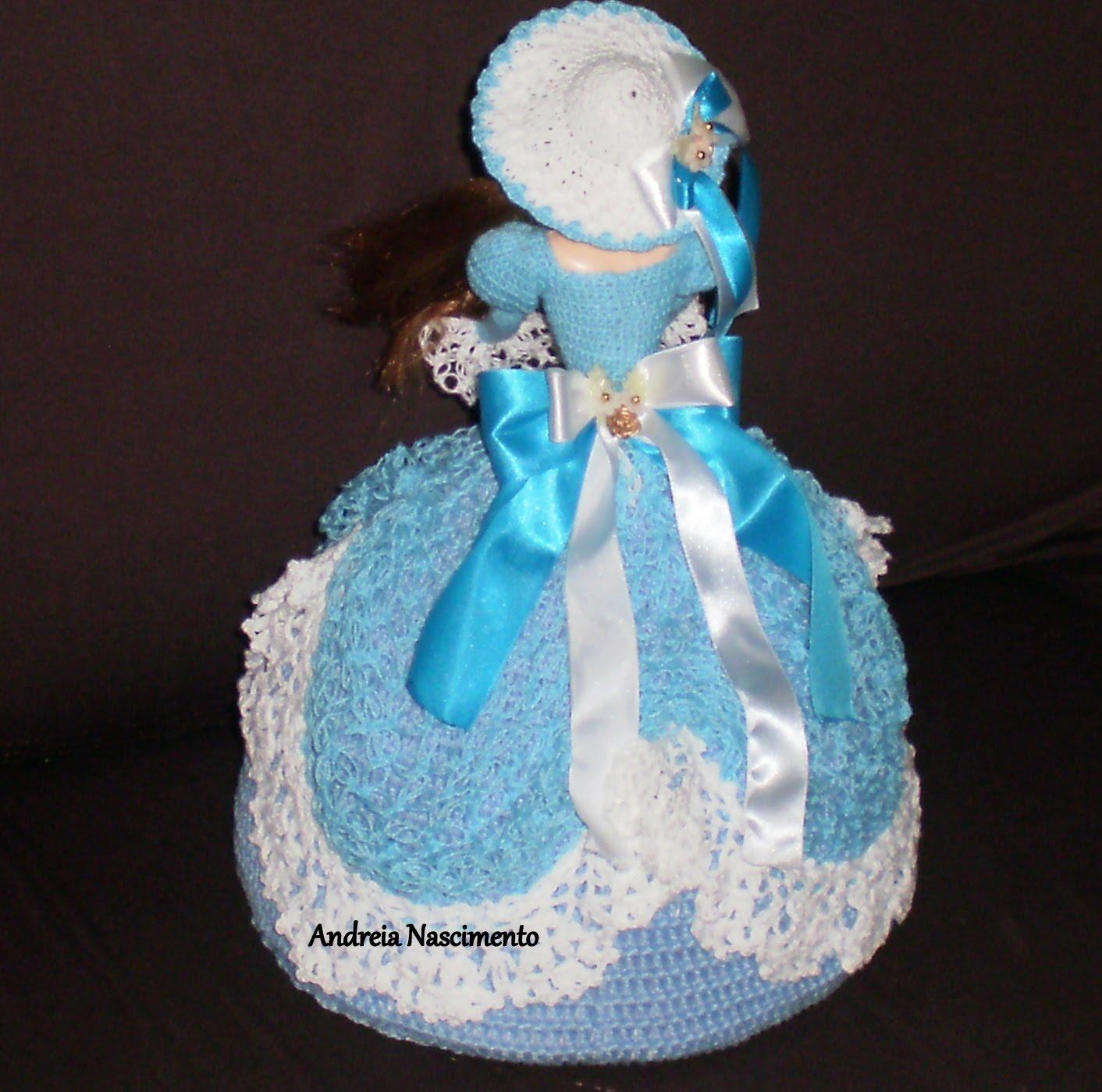 Vestido Azul Para Boneca Barbie