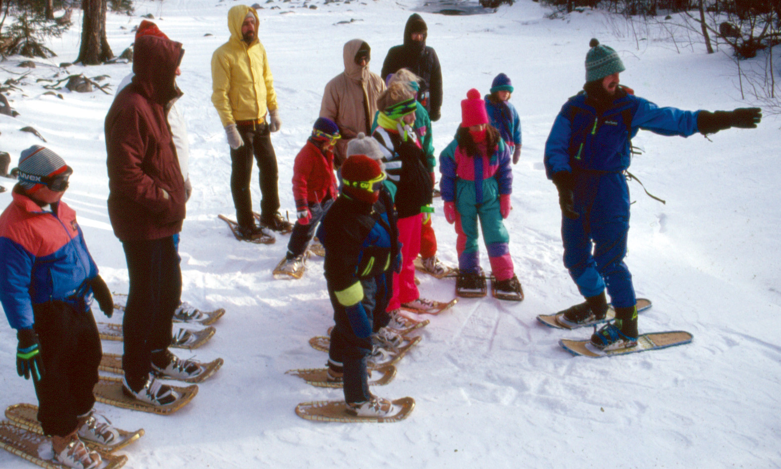 snowshoeing fun and games for kids amc outdoors