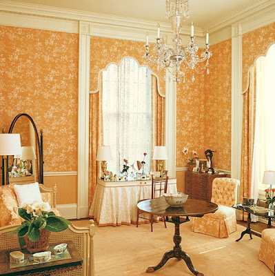 Nancy Reagan's dressing room in 1981, photo Architectural Digest