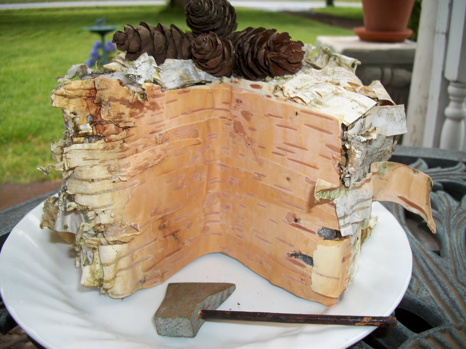 Home Living Homestead Craft Woodsy Fake Cake