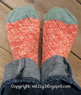 Diagonal Lace Socks 3