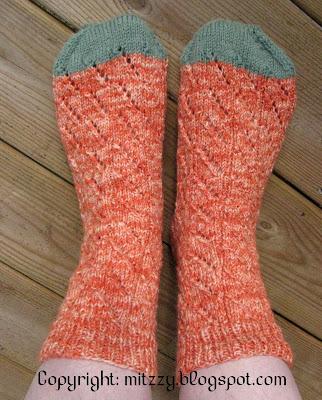 Diagonal Lace Socks 2