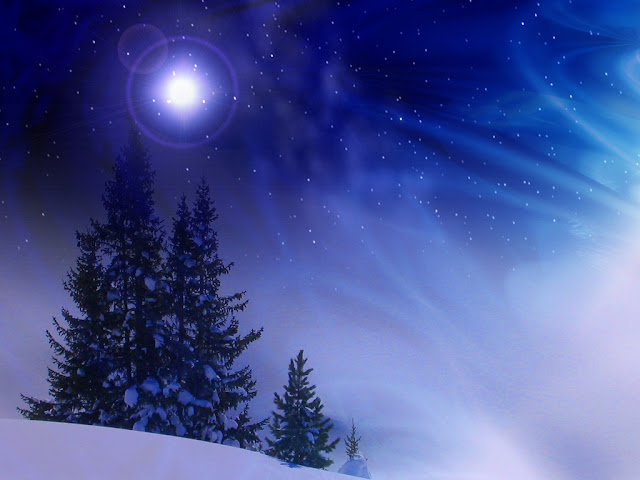 wallpaper christmas night desktop
