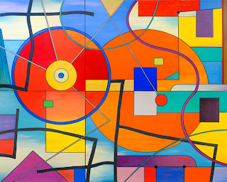 Shine brite zamorano san diego abstract for Artists who use shapes in their paintings
