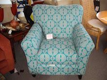 Aqua Print Chair
