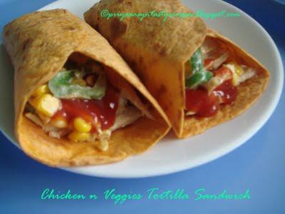 [priya+chicken+and+veggies+tortilla+sandwich]