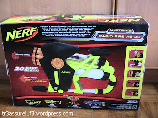 Uk nerf nerf rapid fire as 20 review for Nerf motorized rapid fire blasting