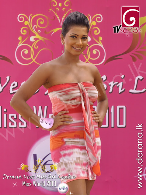 Srilankan Actress: Treshiya Kristina on miss srilanka contest