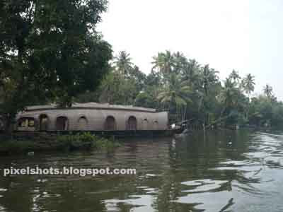 boat house kerala. The tourist Village of Kerala.