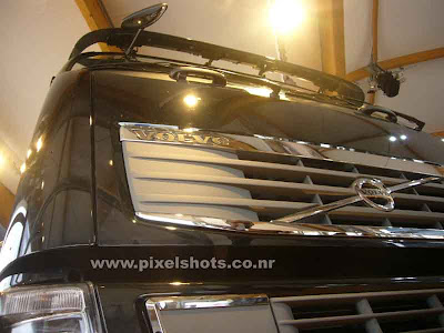 volvos latest trailer fh16 from volvos automobile show in india cochin kerala,a closeup upshot of the fh16 trailor front