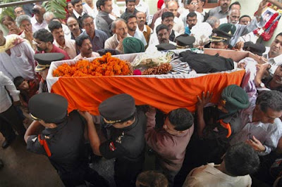 NSG COMMANdo Sandeep Unnikrishnan's funeral