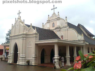 catholic pilgrimage places in kerala,home church of St alphonsa from Kerala india,old churches in india kerala photographs,photography of church with nokia 5310 cell phone camera model