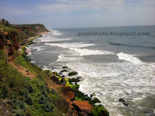 varkala beach photos,kerala beach tourism destinations,famous tourist beaches of south india,aerial view of indian beaches