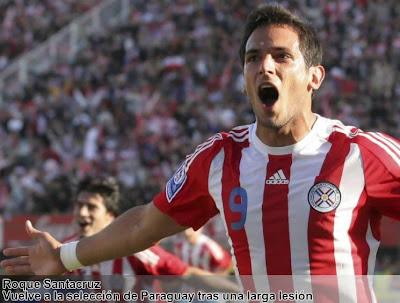 Roque Santacruz vuelve a Paraguay, la lista de convocados contra el Athletic