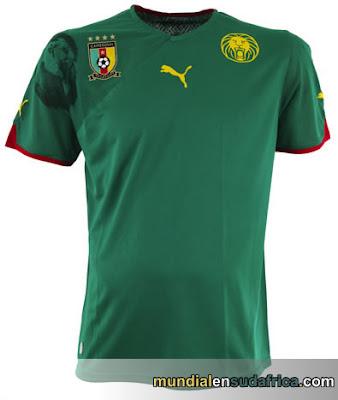 Camiseta Camerun Mundial  2010