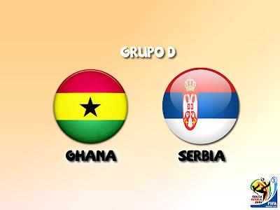 Ghana vs Serbia Grupo D