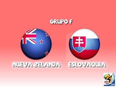 Nueva Zelanda vs Eslovaquia Grupo F