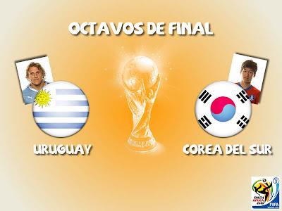 Partido Uruguay vs Corea del Sur Octavos de Final
