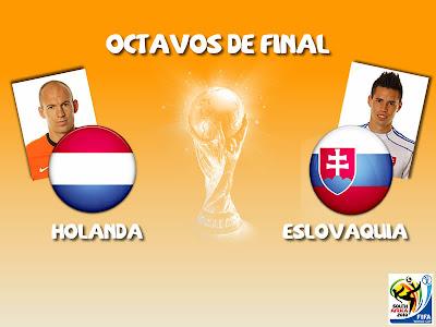 Partido Holanda vs Eslovaquia Octavos de Final