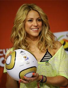 Shakira apoya a España en la Final
