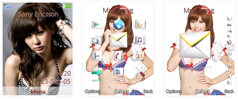「C字褲女王」安心亞SonyEricsson手機主題for Elm和Hazel﹝240x320﹞