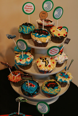 Disney Cars Birthday Party cupcakes