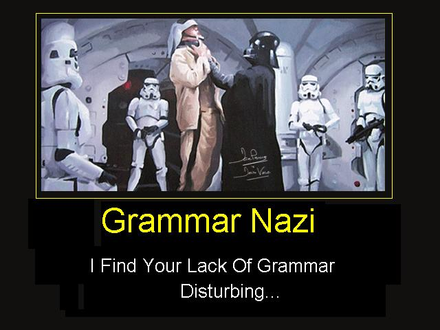 yup nazi correct english dammit