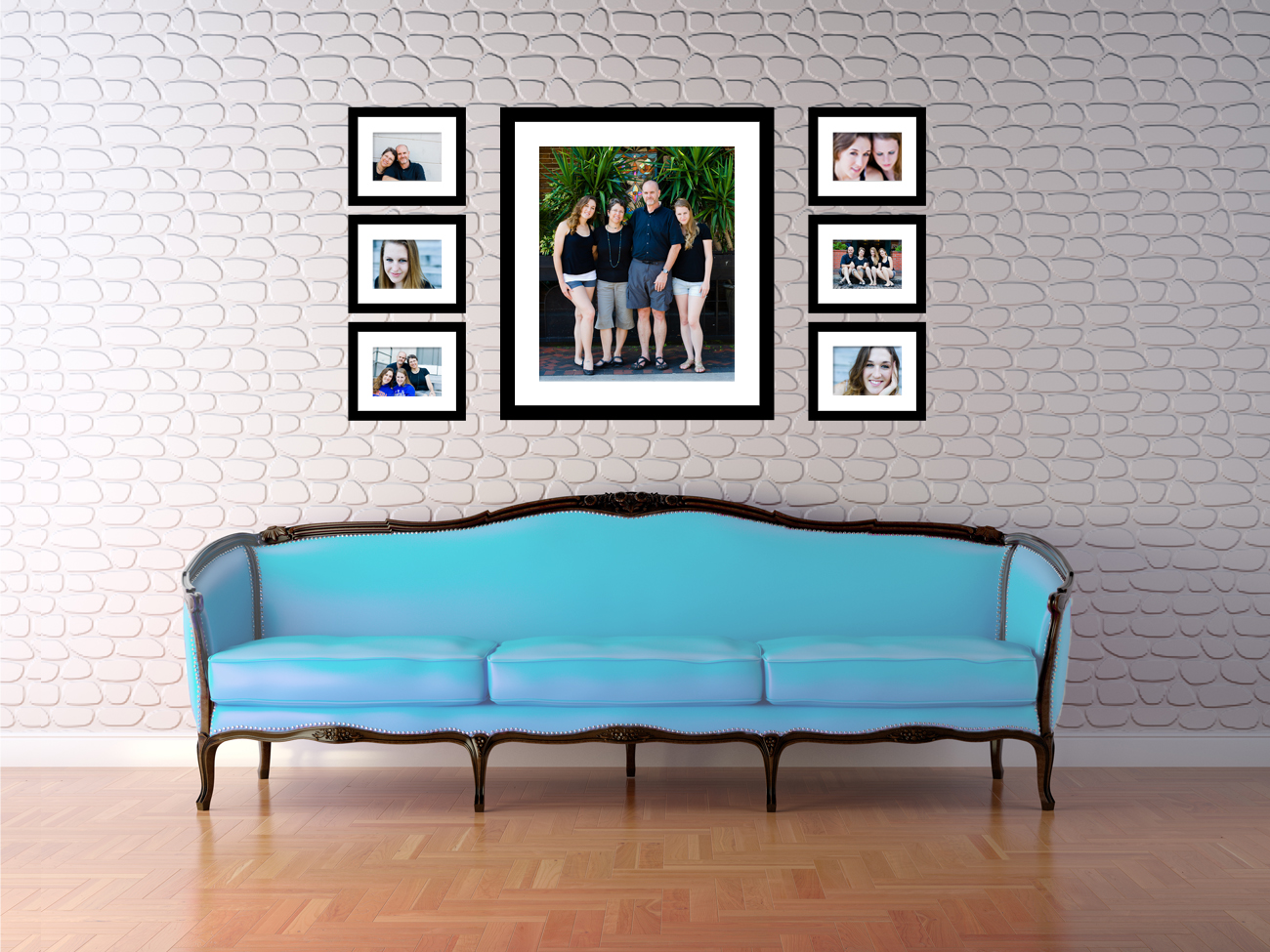 Family photo wall display wall displays gainesville