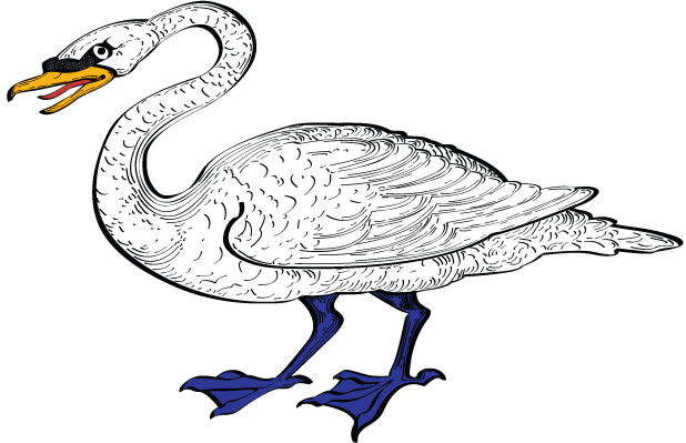 Art by Julie Rebecca: Undertaking the Brough Coat of Arms Swan Arms
