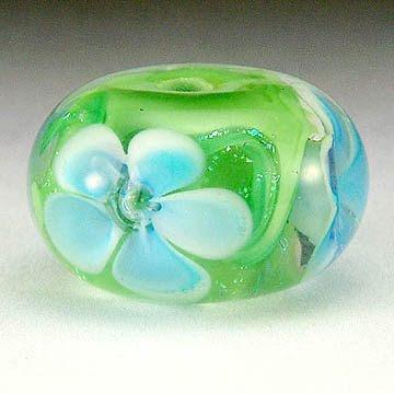 Dichroic Floral Bead