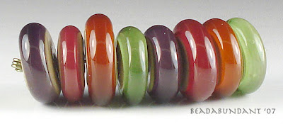 Autumn Disk Lampworked Beads