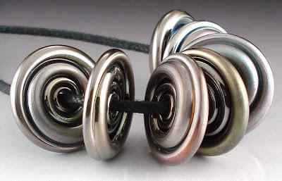 Satiny Triton Disc Beads