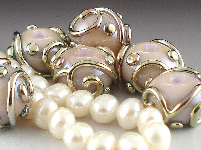 Heffalump and Triton beads with Pearls