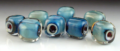 Psyche Cubes Lampworked Beads