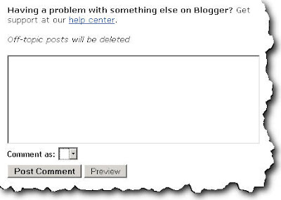 Blogger Comments Error