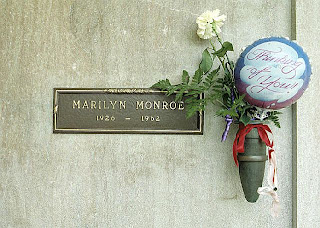 Crypt of Marilyn Monroe at Westwood Village Memorial Park Cemetery in Los Angeles, California