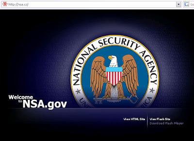 Stránka NSA.cz ukradla Web design americké vládní instituci NSA.gov!